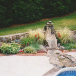 This water feature/fountain was designed, created and built by Sinopoli Contractors. The native Connecticut stone was hand selected and the poolside area was customized to enhance the setting. We contracted and oversaw the pool installation.