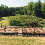 This vegetable garden was built to the specifications of the architect homeowner.