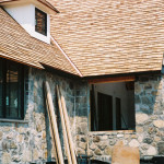 The stone veneer fasad recreated an antiquated appearance for the home.