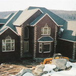 We constructed the brick exterior, the fireplaces and entrances for this custom home.