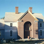 We constructed the brick entrance for this custom home.